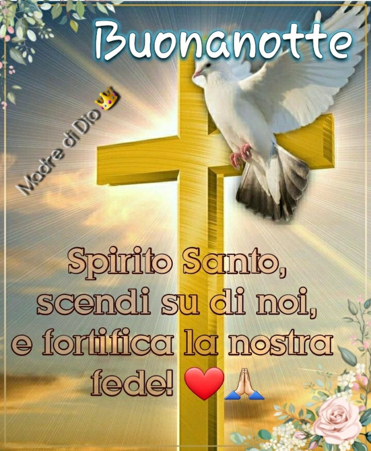 Immagini di buonanotte cristiane cattoliche per Facebook 6